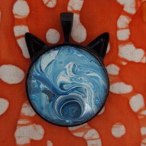 Handmade Cat Ears Pendant Necklace